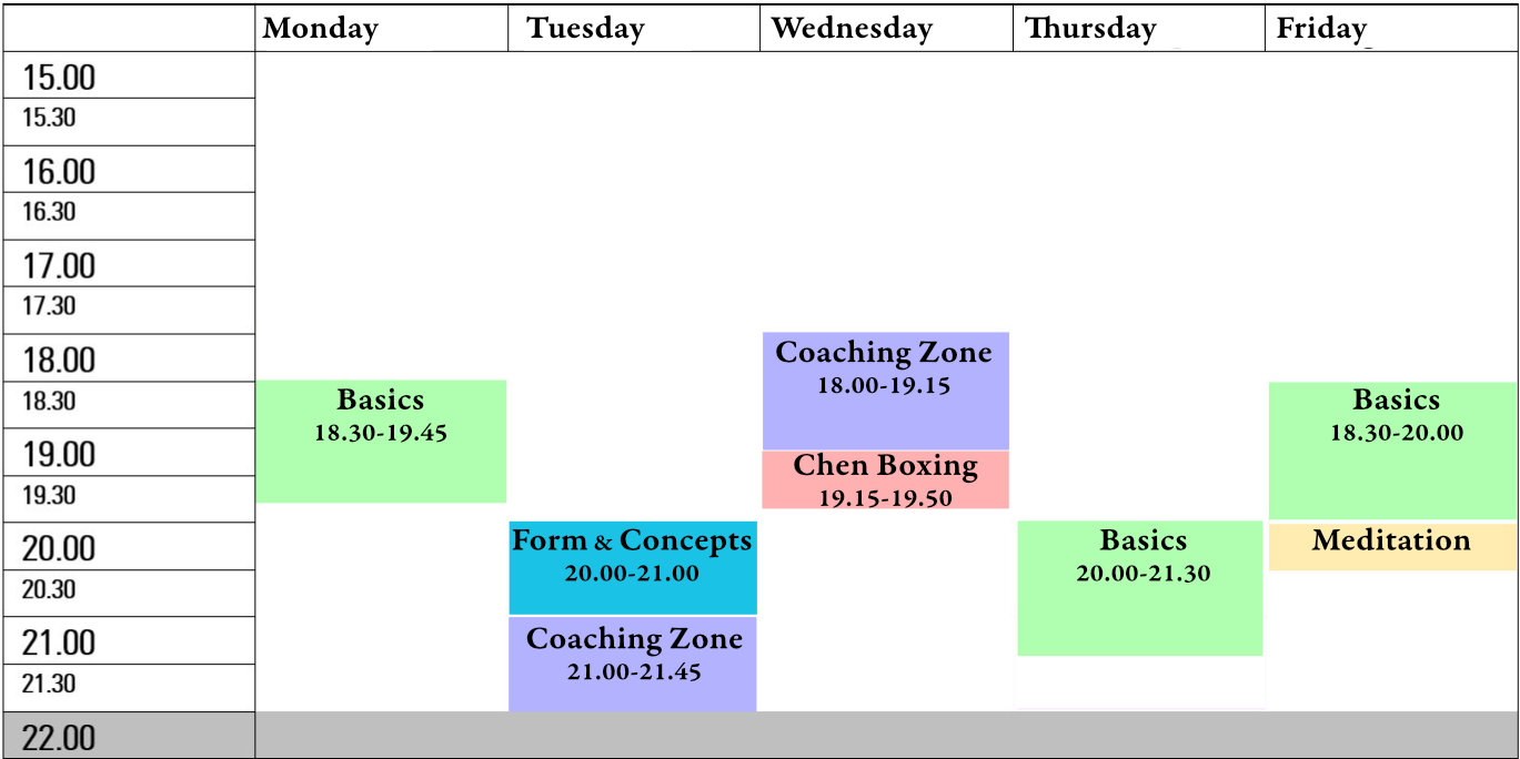 timetable chen taijiquan taichi 2020 berlin english